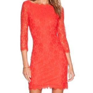 Diane Von Furstenberg Zarita Dress Grapefruit 4